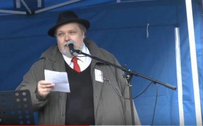 Petr Bahník – Demonstrace SPD  – Praha 6. 2. 2016