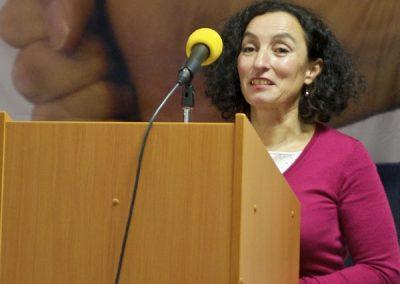Se svými poznatky z praxe učitelky na základní škole seznámila přítomné Arjana Shameti.