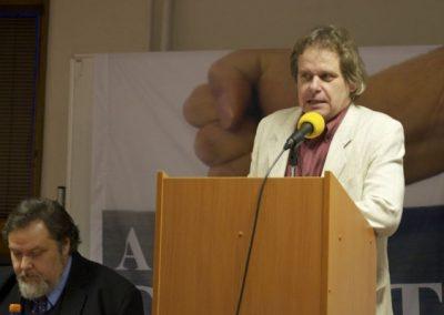 Vysokoškolský pedagog Otto Jarolímek, zhodnotil ve svém příspěvku situaci na českých vysokých školách.
