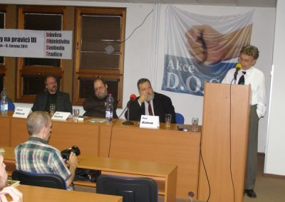 O situaci na pravici promluvil i nakladatel a signatář Manifestu D.O.S.T. Alexander Tomský.