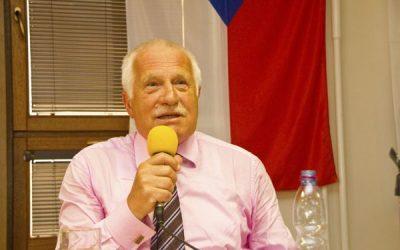 Václav Klaus podpořil Ladislava Jakla vnadcházejících volbách do Senátu – 25.9.2018