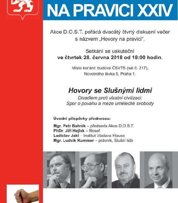 Hovory na pravici XXIV – 28. června od 18 hodin v Praze
