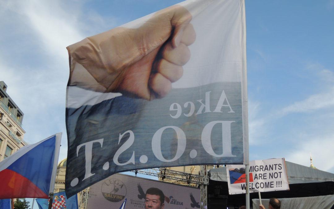Signatáři Manifestu D.O.S.T. podpořili předvolební akci SPD v Praze – 25. 4. 2019