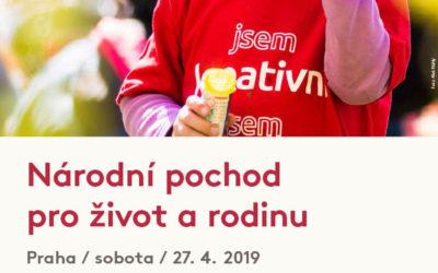 Národní pochod pro život a rodinu 2019 –  Praha – 27. 4. 2019